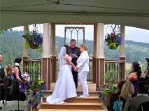 Ralph Fishburn performing a vows renewal ceremony for a Snohomish, Washington couple at Ralph's Regal Weddings.